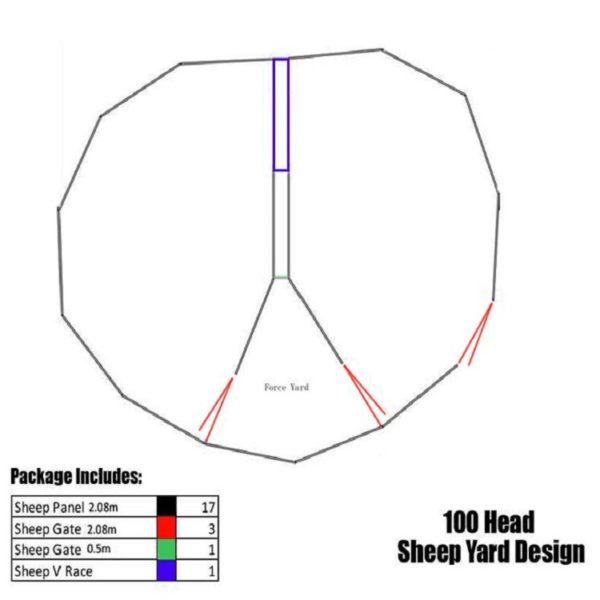 100 head sheep yard design system