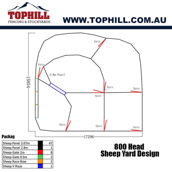 800 Head Sheep Yard Design