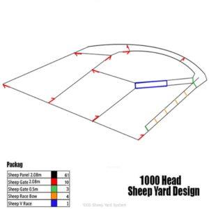 1000 head sheep yard system