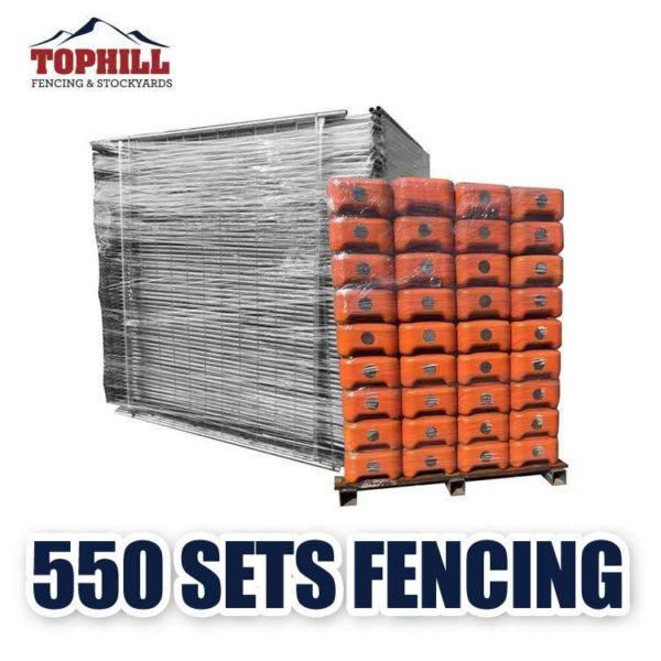 40 feet container temporary fence set