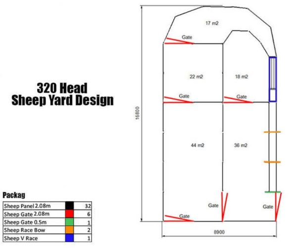 320 head sheep yard design