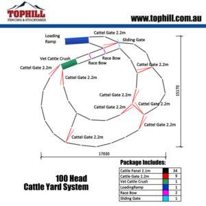 100 HEAD Cattle Yard Design